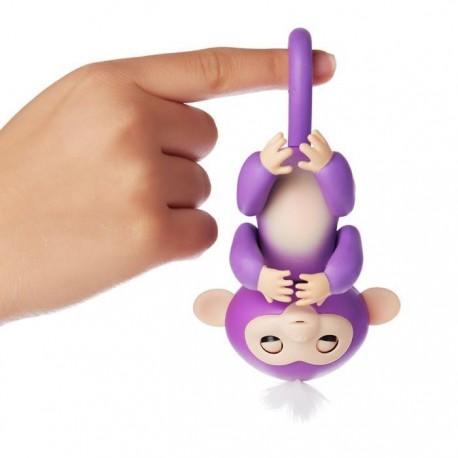 Fingerlings Zabawka interaktywna Małpka Mia Fiolet