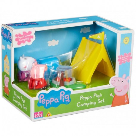 TM TOYS Peppa Zestaw Kemping z figurkami