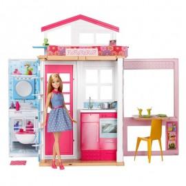Mattel Barbie Domek + lalka DVV48