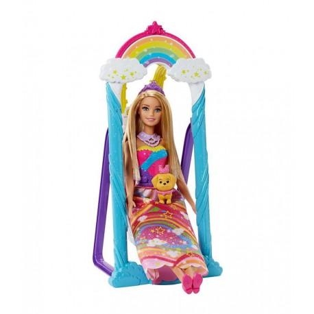 Mattel Barbie Dreamtopia Huśtawka Księżniczki FJD06
