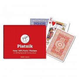 PIATNIK Karty 2 talie Plastikowe Poker